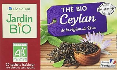 Jardin Bio Thé Noir Ceylan Bio 20 Sachets 30 g parent