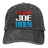XCNGG Me Gusta Joe-Biden Sombreros de Vaquero Unisex Sombrero de Mezclilla Deportivo Gorra de béisbol Ajustable Negro