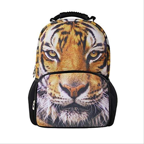fhdc Zaino Borsa Da Scuola Per Donna Moda Casual Zaino Per Libri Zaino 3D Tiger Animal Woman For Girl ZainoOro