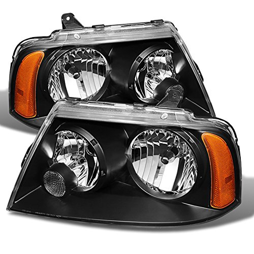 ACANII - For Black 2003-2006 Lincoln Navigator Replacement Headlights 03 04 05 06 Headlamps Driver + Passenger Side