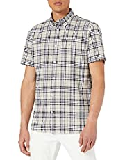 Tommy Hilfiger Co/Li Check Shirt S/S Chemise Homme