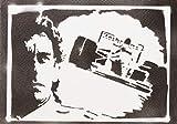 Poster Ayrton Senna F1 Grafiti Hecho a Mano - Handmade Street Art - Artwork