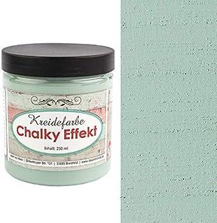 Ideen mit Herz Chalky Effekt Kreidefarbe, 250ml   hochdeckend   ultramatt   auf Wasser-Basis   Kreide-Farbe für Shabby-Chic & Vintage-Effekt pastellgrün