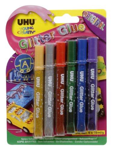 UHU Glitzerkleber Glitter Glue Original, 24er Display