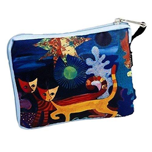 Fridolin Rosina Wachtmeister Wonderland Einkaufstasche, Stoff, mehrfarbig, 16x13x4 cm