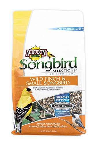 Audubon Park Songbird Selections Selections 11978 Finch and Small Songbird Wild Bird Food, 4-Pound