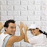 3D ladrillo pantalla, papel pintado,desmontables ladrillo pegatinas de pared, aislamiento acústico auto adhesivo del papel pintado for la sala de estar, dormitorio, bar, TV Pared 30.32inch x 27.56inch
