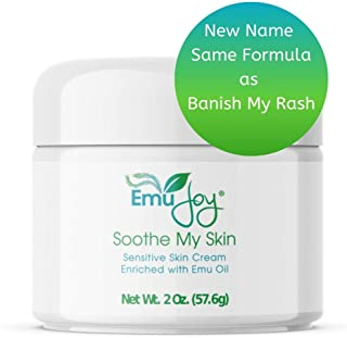 Soothe My Skin Cream for Sensitive Skin | Eczema Cream Psoriasis Treatment Atopic Dermatitis Lichen Sclerosus | Emu Oil Cream with Only Natural Ingredients