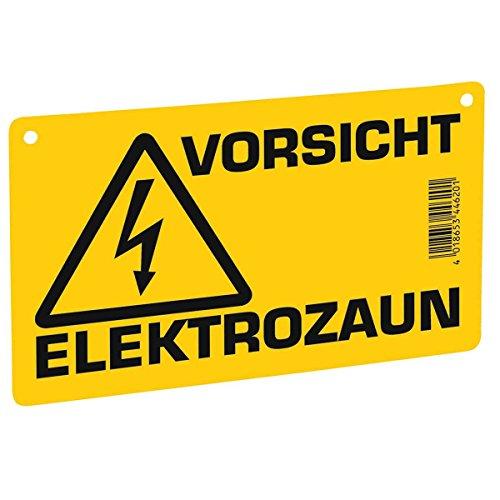 Kerbl Warnschild – Vorsicht Elektrozaun – Sicherheitschild Weideschild Warntafel