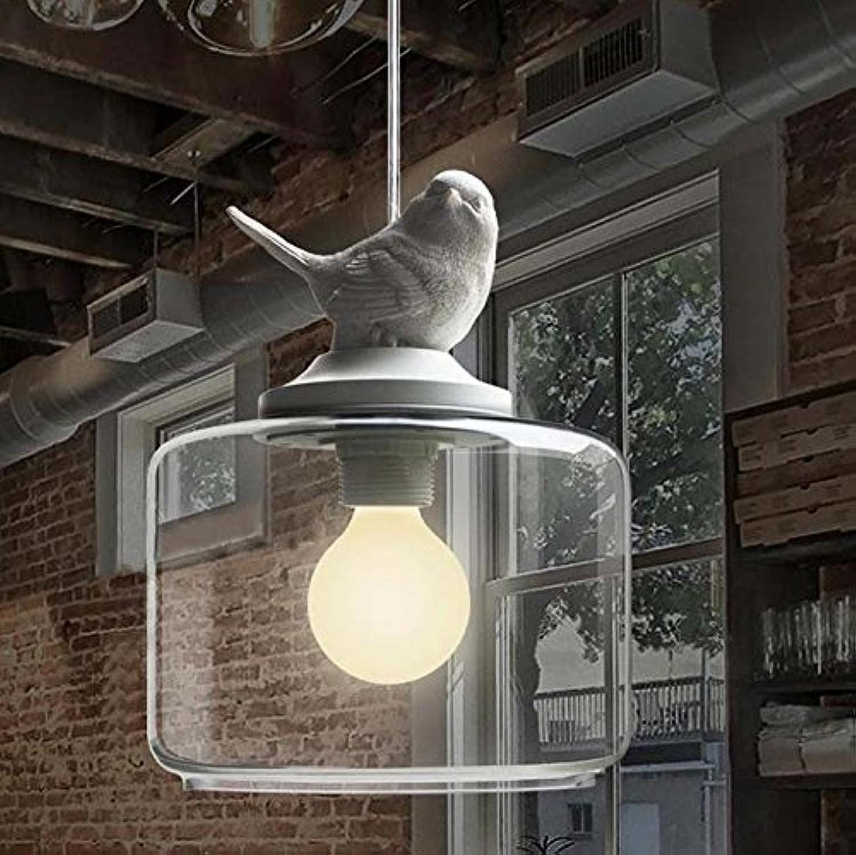 YFF@ILU American style créatif verre unique birdie 20  36cm lustre pour chambre d'enfant
