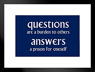 Best questions are a burden to others poster Reviews