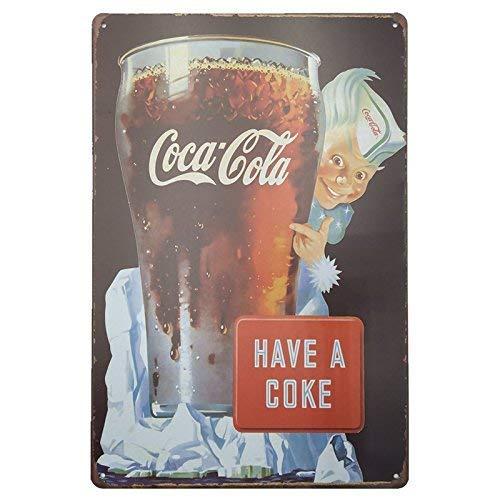 Coca Cola 🥇 Placas Decorativas Pared 🔰 Chapas Vintage Metálicas CocaCola 👆 Elígeme 👆