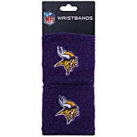 Franklin Sports Minnesota Vikings NFL Wristbands - Youth NFL Team Logo Wristbands - Great for Costumes and Uniforms - Pair of Wristbands