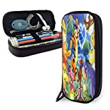 Winnie The Pooh Pencil Case Large Capacity Pen Case Double Zippers Pen Bag Office Pen Holder Organizer Stationery Bag Cosmetic Bag with Compartments for Girls Boys and Adults