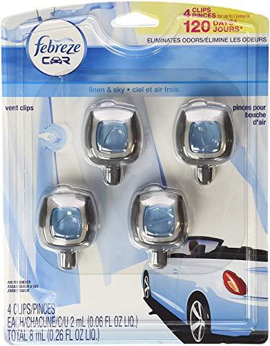 Febreze Car Vent-Clip Air Fresheners - 4 Pack (Linen & Sky)0.06 FL.OZ by Febreze