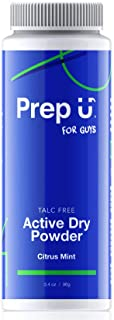 Prep U for Teen Boys | Talc-Free Active Dry Powder | All-Natural, Anti-Chafing, Moisture-Reducing Deodorizer | Keep Sweaty Areas Dry, Prevent Odor in Shoes or Gym Bag | Citrus Mint Scent - 3.4 oz