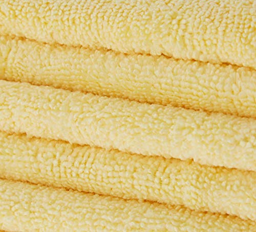 Product Image 1: Amazon Basics Thick Microfiber Cleaning Cloths, 3-Pack
