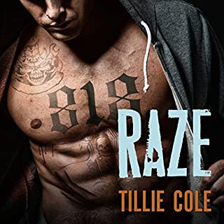 Raze     Scarred Souls Series #1              By:                                                                                                                                 Tillie Cole                               Narrated by:                                                                                                                                 Amelie Griffin,                                                                                        Guy Locke                      Length: 10 hrs and 26 mins     634 ratings     Overall 4.4