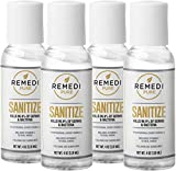 Remedi Pure: Professional Grade Hand Sanitizer - Alcohol Based Gel Hand Sanitizer - 4 Pack, 4oz Bottles - 70% Alcohol - Follows CDC Guidelines - Travel PPE - Infused with Aloe Vera and Vitamin E