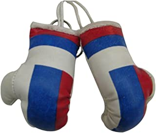 Flag Mini Small Boxing Gloves to Hang Over Car Automobile Mirror – Asia & Africa (3-Pack, Country: Russia)
