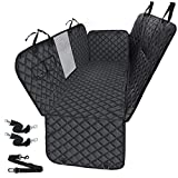 Dog Car Seat Cover for Back Seat, HIPPIH Dog Seat Covers for Cars Back Seat, Waterproof and Nonslip Pet Car Seat Covers Backseat with Mesh Window, Dog Hammock for Car Backseat with Storage Pockets