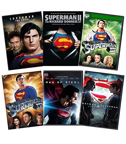 Christopher Reeve & Henry Cavill Superman 6-Movie Anthology DVD Collection: Superman: The Movie/Superman II: Richard Donner Cut/Superman III/Superman IV/Man of Steel/Batman V Superman: Dawn of Justice