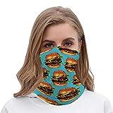 VopblueOM Double Cheeseburger 2 Pattern Printed Unisex Bandanas Scarf Headband face Masks - Free UV Headwear Neck Gaiters