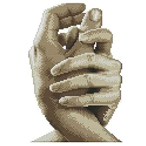 Cukol Kit Punto de Cruz Esquemas para NiñOs Principiantes NiñAs Hacer Mano a Mano Simbolizan Amor, Patrones Manualidades Cuadro Set Kits Bordado Punto de Cruz Contado Completo con Hilos y Tela a Mano