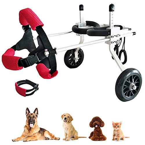 FXPCQC Hunderollstuhl für Hinterbeine Hinterfüße Hunde, Rollstuhl Hunderolli Gehhilfe Hundegehilfe Rollwagen Hunderollwagen Hundewagen Haustier Rolli für Behinderte ältere Hunde