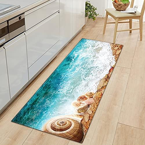 NTtie Tappeto, per Salotto, Camera da Letto, corridoio, Cucina, Pietra da Spiaggia Adatta per tappetini da Cucina