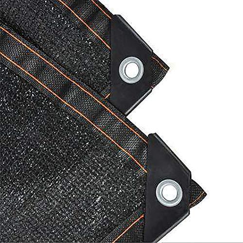 WXQIANG Negro Protección UV Acoplamiento de la Red de Sombra con Ojales, el 85% de Sombra de Tela de Invernadero Patio Tejado Pergola, Transpirable Tela Protección Solar, Aislamiento térmico.