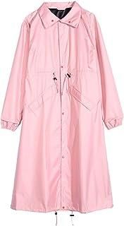 WZHZJ Women's Stylish Waterproof Rain Poncho Cloak Raincoat with Hood Sleeves and Big Pocket
