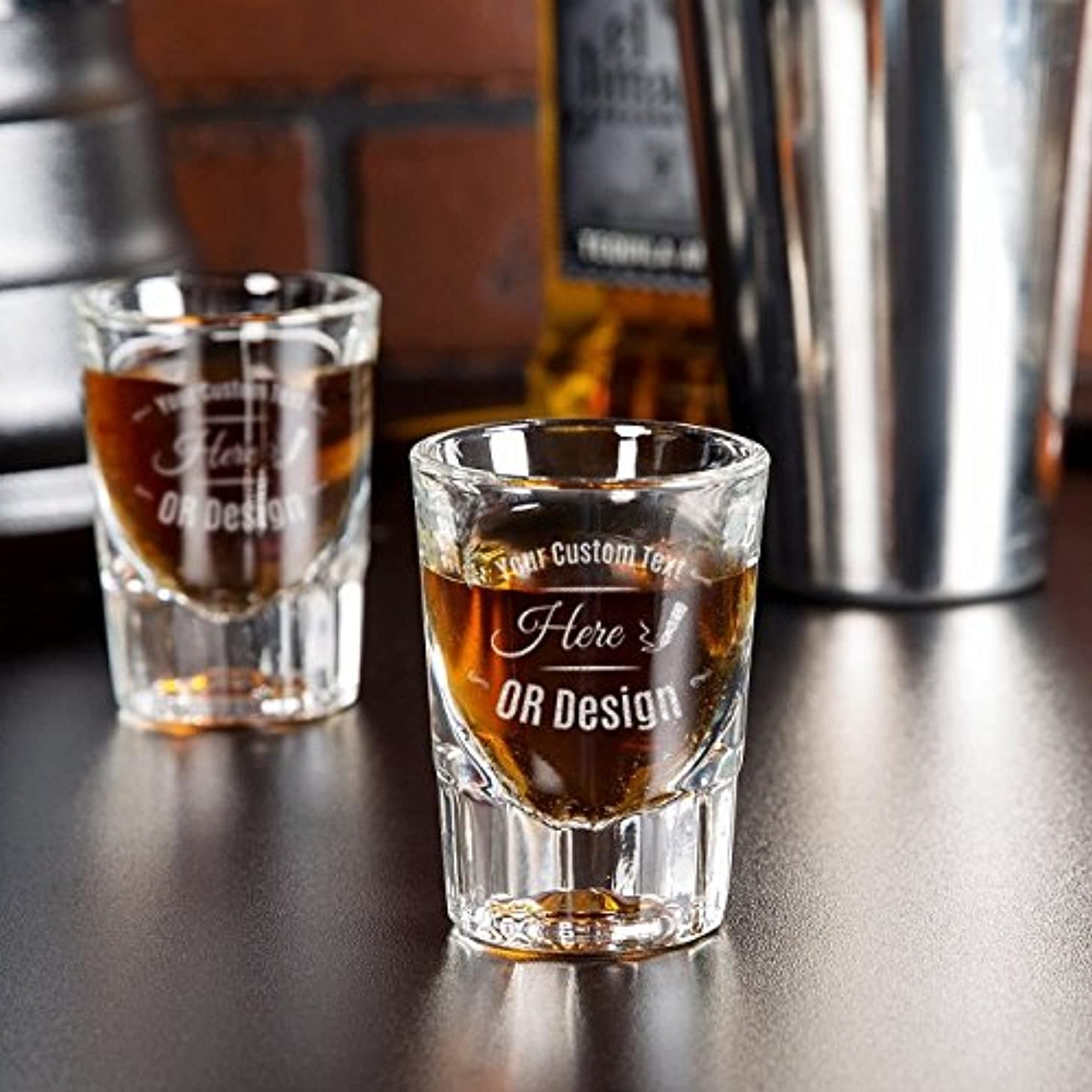 Personalized Libbey Fluted Whiskey/Shot Glass
