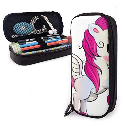Einhorn Federmäppchen Federmappe Schreibwaren Tasche Leder Leder Klein Federmäppchen Student Schreibwaren Tasche Reißverschluss Tasche