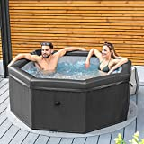 CosySpa Deluxe Rigid Foam Hot Tub Spa [4-6 People] | Quick Heating Outdoor Bubble Spa – 6 Person Jacuzzi Hot Tub | Energy Saving Inflatable Tub - Optional Filters & Cover (Hot Tub Only)