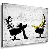 Banksy Kunst auf Leinwand Bild fertig auf Keilrahmen ! Pop Art Gemälde Kunstdrucke, Wandbilder, Bilder zur Dekoration - Deko/Top 100'Banksy Bilder - Graffiti/Street Art Kunstdrucke