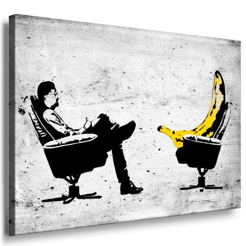 Banksy Kunst auf Leinwand Bild fertig auf Keilrahmen ! Pop Art Gemälde Kunstdrucke, Wandbilder, Bilder zur Dekoration - Deko / Top 100