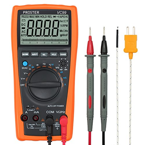 Proster Autoranging Digital Multimeter 6000 Count Automotive Multitester AC DC Current Voltage...