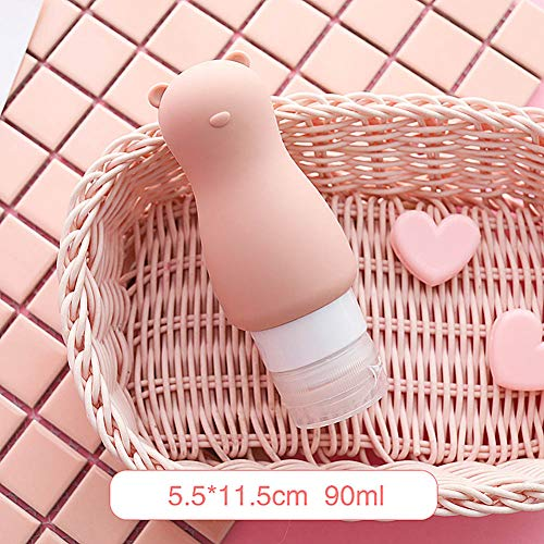 DWWW Draagbare Lege Make-up Tool Reizen Grootte Shampoo Houder Lotion Crème Verpakking Squeeze Containers Siliconen Navulbare Flesje (ND)