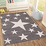 Kinderteppich Sky Sterne | Kinderteppich für Mädchen und Jungen | Teppich für Kinderzimmer | Stern | Blau...