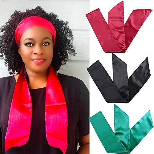 Satin Edge Scarf Wig Grip 3Pcs Edge Laying Scarf Headband for Lace Frontal Wigs Edge Wrap for product image