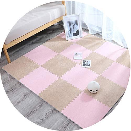 Fantastic Prices! Interlocking Suede Foam Mats JIAJUAN Baby Play Mat Child Crawling Mat for Playroom...