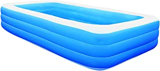 Inflatable Swimming Pools, Inflatable Lounge Pool, Family Swimming Pool, Swim Center for Kids, Babies, Adults,Toddlers, Outdoor, Garden, Backyard (121.26''x72.84''x23.6'')