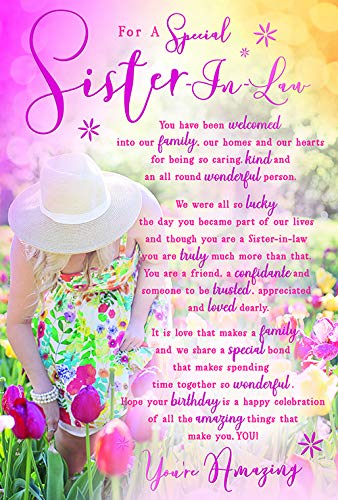 voor een speciale zuster in de wet Tulpen Sentimenten Gelukkig Verjaardagskaart Mooie Vers