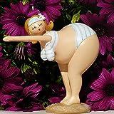 Pommerntraum ® | Dekofigur Dicke Badenixe - Dicke Dame - Dicke Rubensfigur - Dicke Lady - Hommage an Niki de Saint Phalle