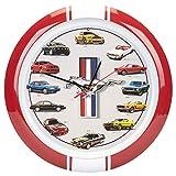 Mark Feldstein & Associates History of Mustang Sound Wall Clock, 13 Inch Red