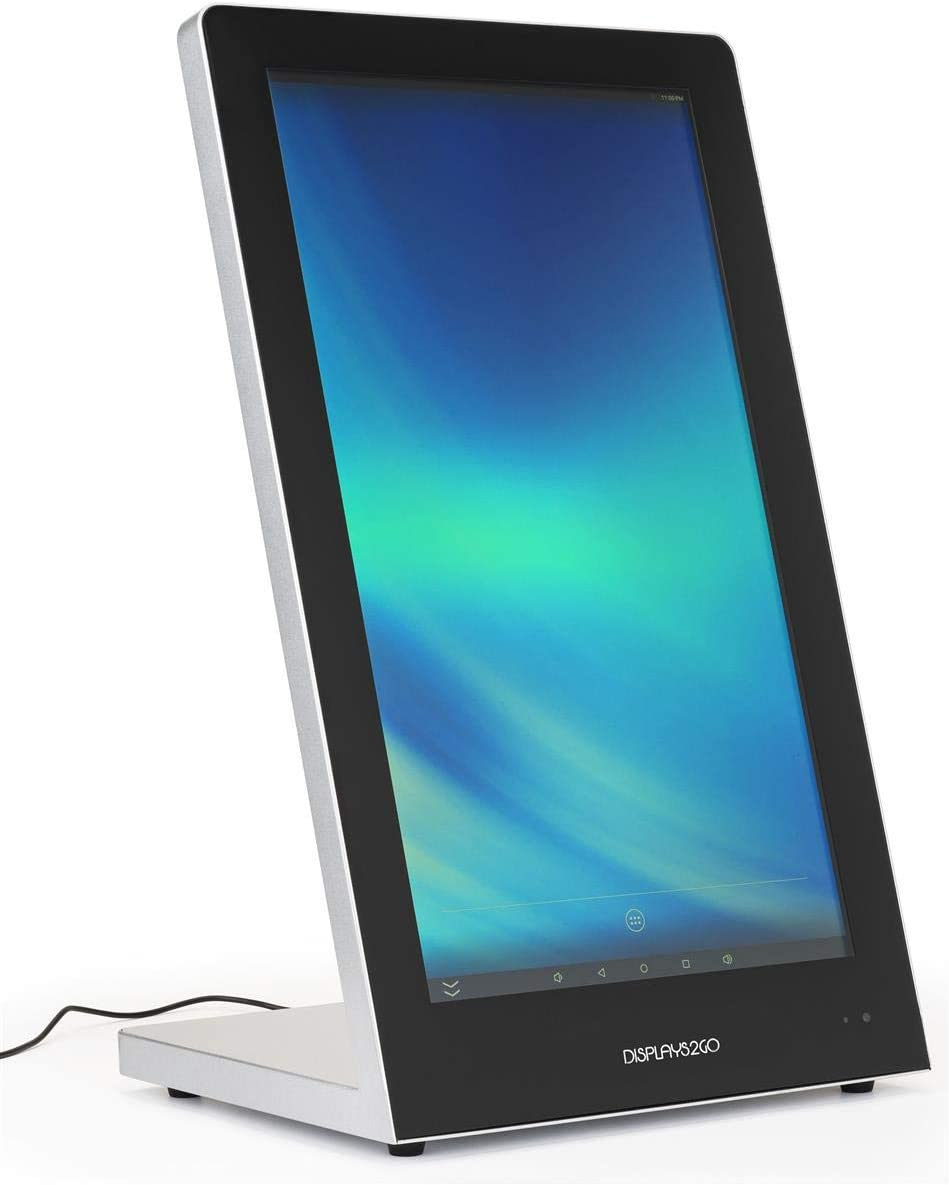 Displays2go Touch Screen Countertop Stand, 10pt PCAP Touch, Media Player - Black (DGCTATCH21)