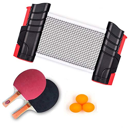 Buy Discount LFF TENT Ping Pong Set, Professional Table Tennis Racket Paddle Set with 2 Bats and 3 B...