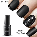 Esmalte de Uñas Semipermanentes Top Mate Coat Pintauñas Manicura Semipermanente UV LED Soak Off...