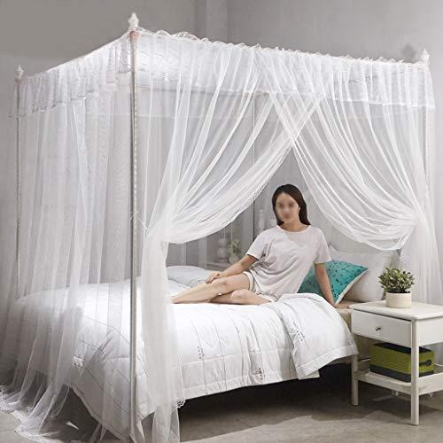 Yvst Transparant Mesh Cover Verwijderbare Muggennet, Makkelijk te installeren Luifel Bed Net,Tent Opvouwbaar Muggennet, Geschikt voor Thuis, Voorkomen Muggenbeten, Wit